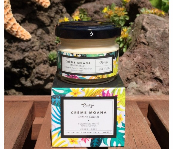 J'ai testé pour vous la Crème Moana à la Fleur de Tiaré BAÏJA