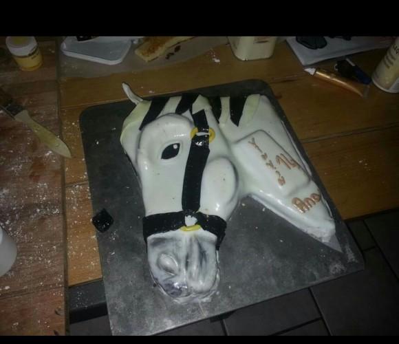 Gateau tête de cheval 3D