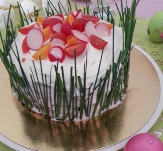 Pour un apéro ou une entrée fraîche cet été… le gâteau du potager !