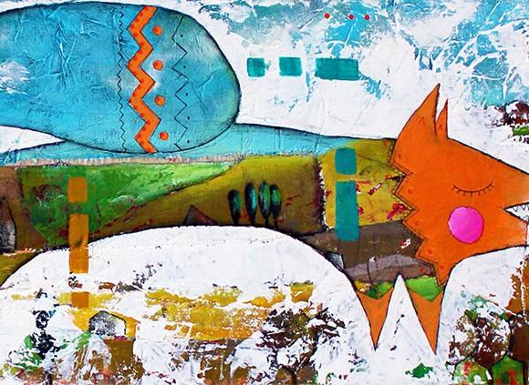 Julie Grugeaux et sa peinture poétique…