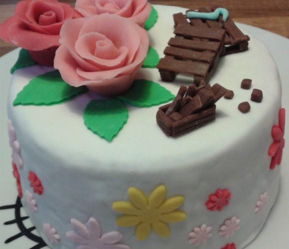 Gâteau thème Roses / Palettes