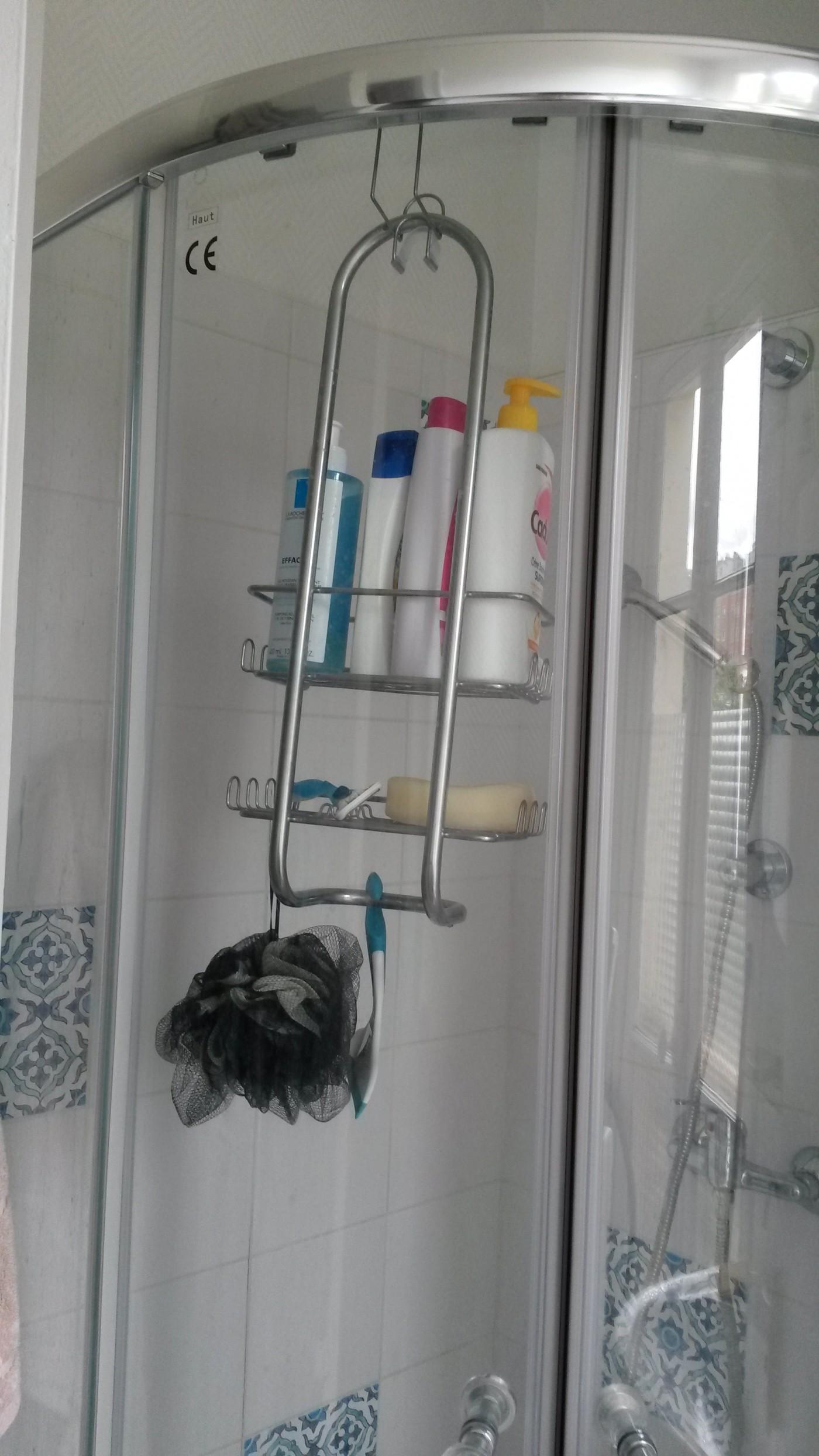 J'ai testé pour vous le caddie de douche en métal brossé