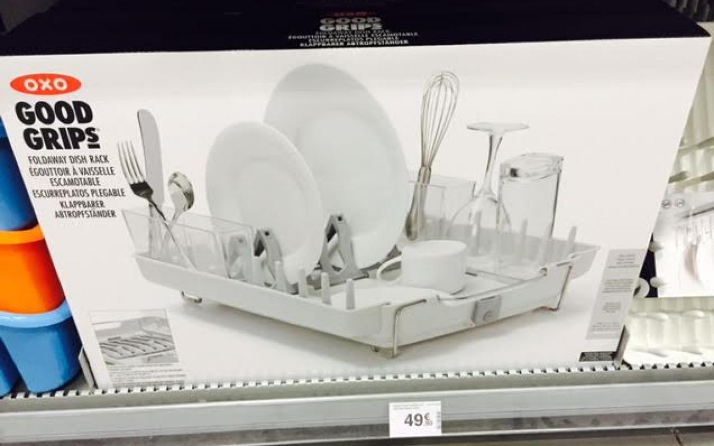 J'ai testé pour vous l'égouttoir vaisselle rétractable OXO