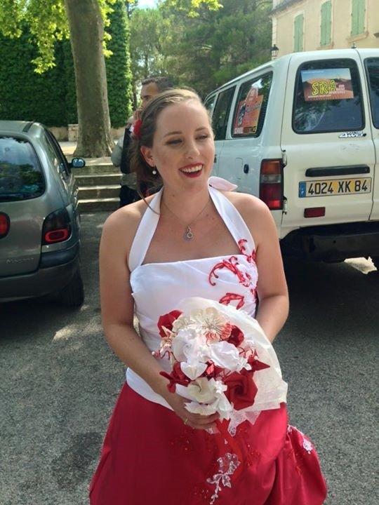 Le bouquet de la mariée en origami