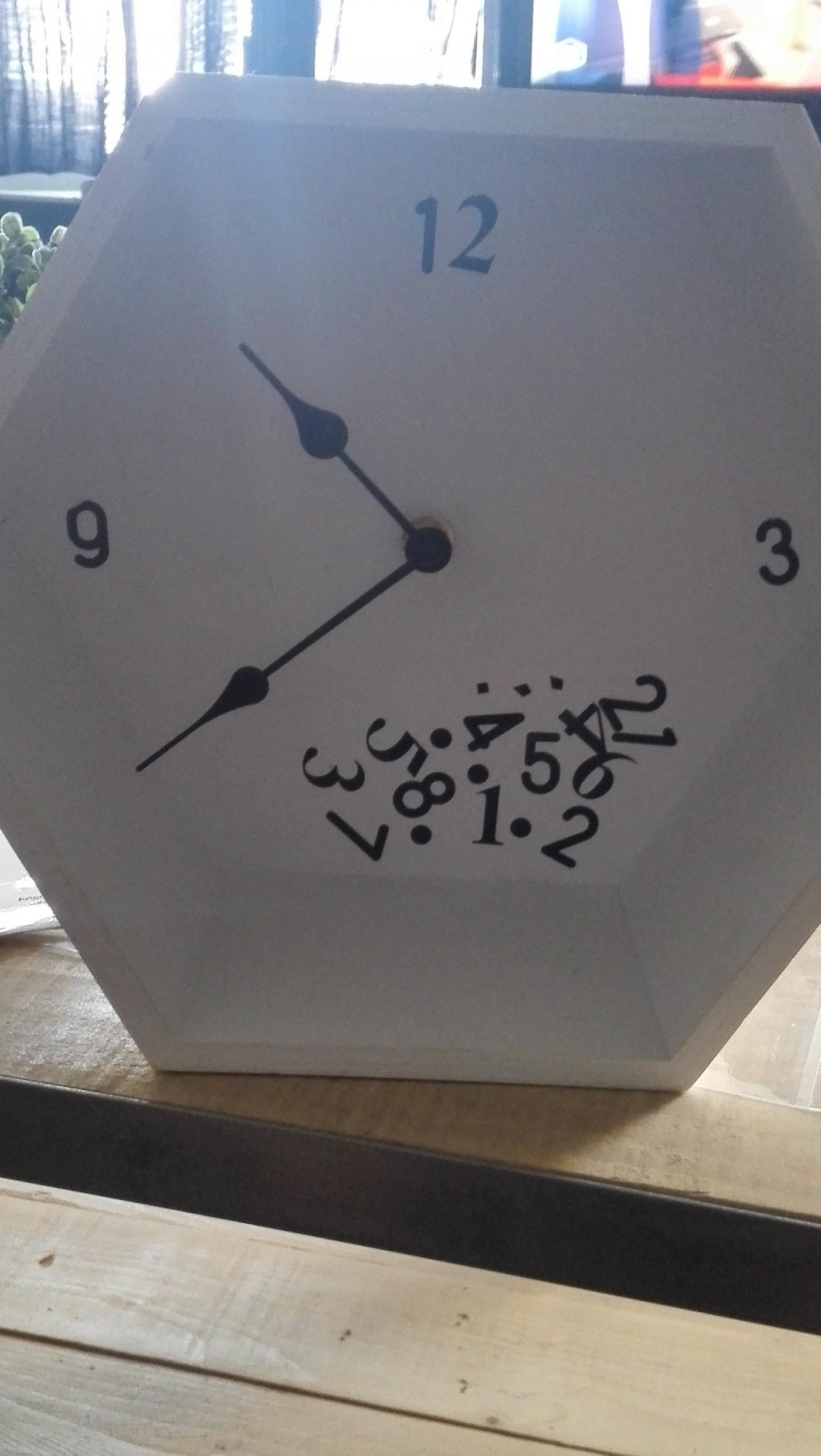 Etagère round 1 : L'horloge !
