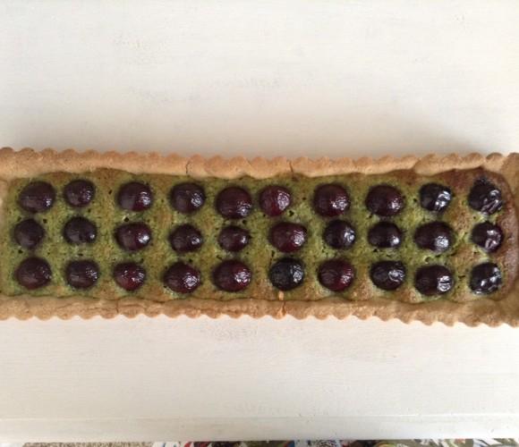 Tarte pistache/cerise