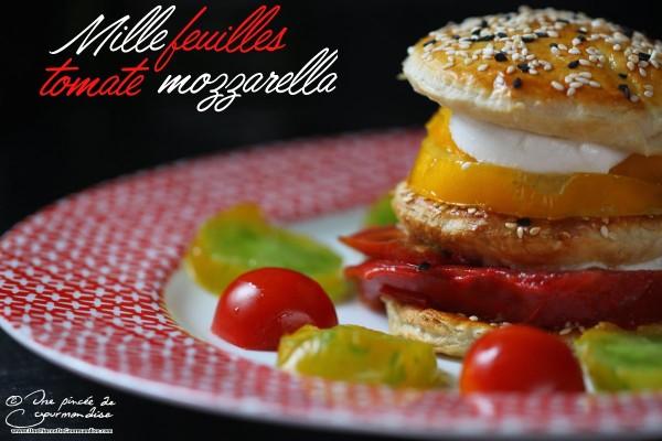Millefeuilles tomate mozzarella