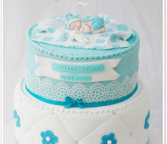 Gâteau baptême garçon:)