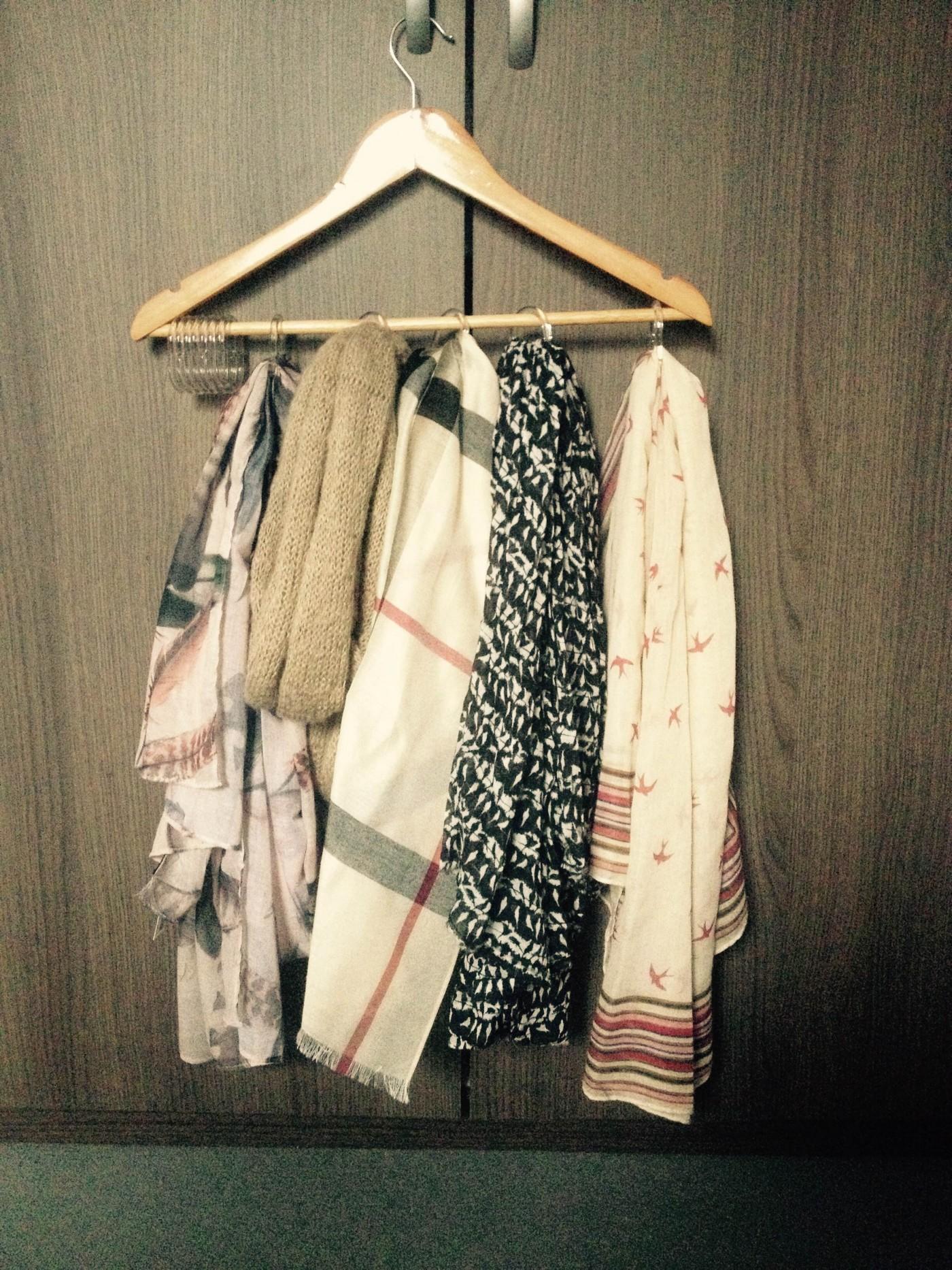 Je range mes foulards de manière pratique et originale !