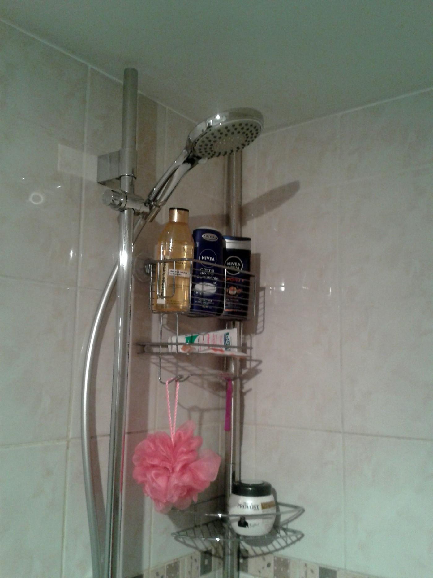 j 39 ai test pour vous le panier de douche bain interdesign ventouses super adh sives blog. Black Bedroom Furniture Sets. Home Design Ideas