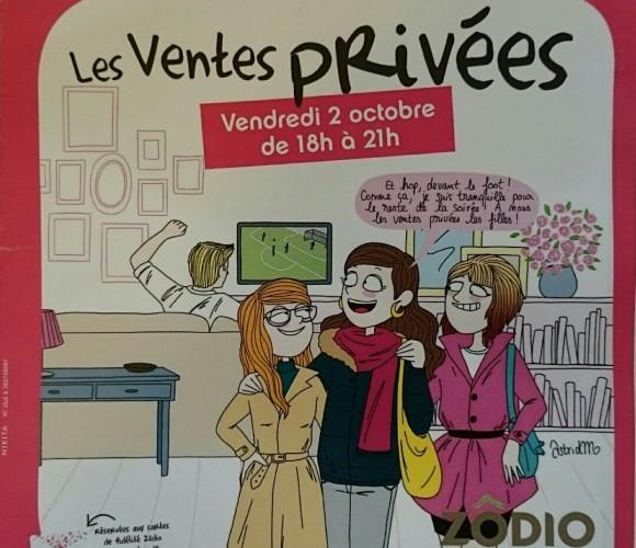 Vendredi 2 octobre ce sont les Ventes Privées chez Zôdio Reims Thillois!