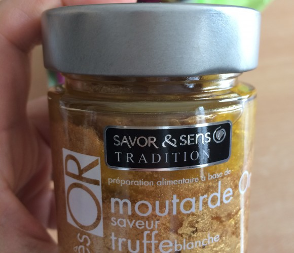 J'ai testé pour vous moutarde Or saveur truffe blanche à l'huile d'olive de Savor & sens