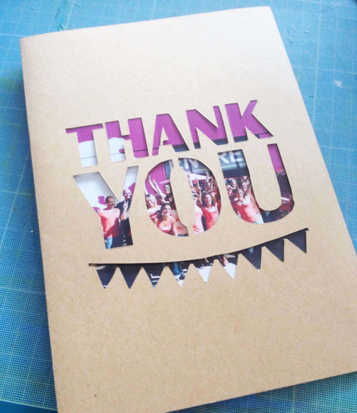 Une carte super simple pour dire merci !