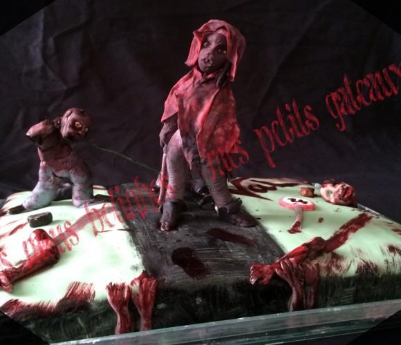 Michonne de the walking dead et ses zombies