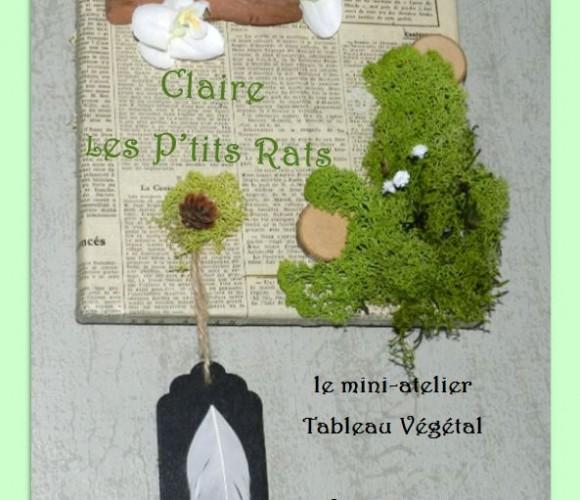 08 – Mini-atelier Tableau végétal à la Vente Privée (Aout 2015 – Zodio Angers)