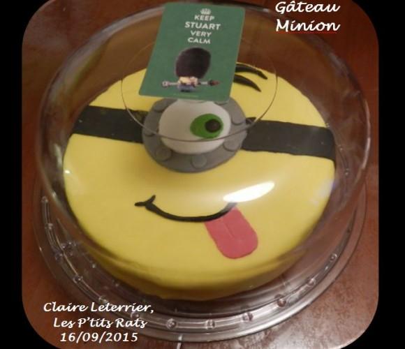 11 – Gâteau «Minion» pour un diner informel avec trois petits monstres ! (Septembre 2015)