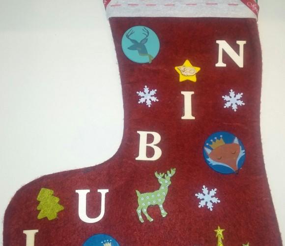 J'ai choisi pour mon neveu : la chaussette de Noël personnalisée