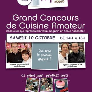 """Concours de cuisine amateur """"Les Toquès"""" 4ème éditon ce samedi 10 octobre dans votre magasin Zodio Caen !"""