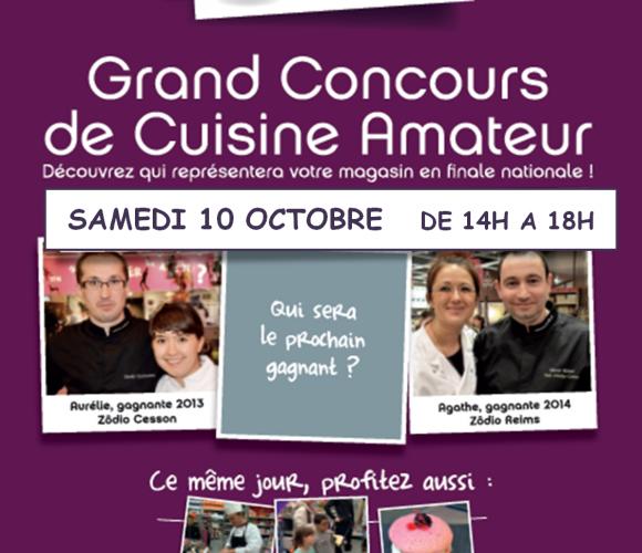 Concours de cuisine amateur «Les Toquès» 4ème éditon ce samedi 10 octobre dans votre magasin Zodio Caen !