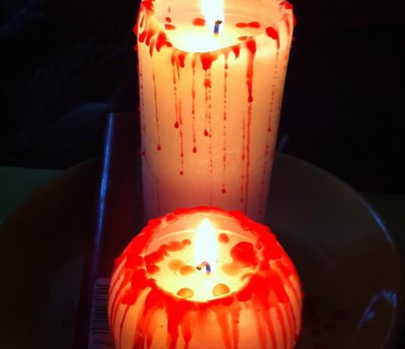Les bougies ensanglantées!!!!!