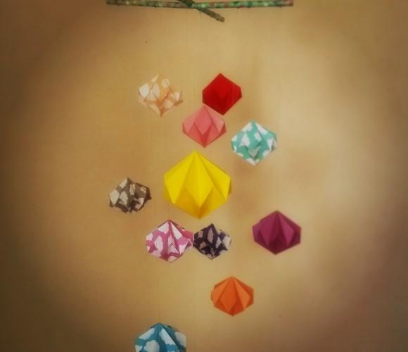 Mobiles en origami