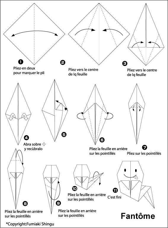 Tuto : Nos petits fantômes en origami !