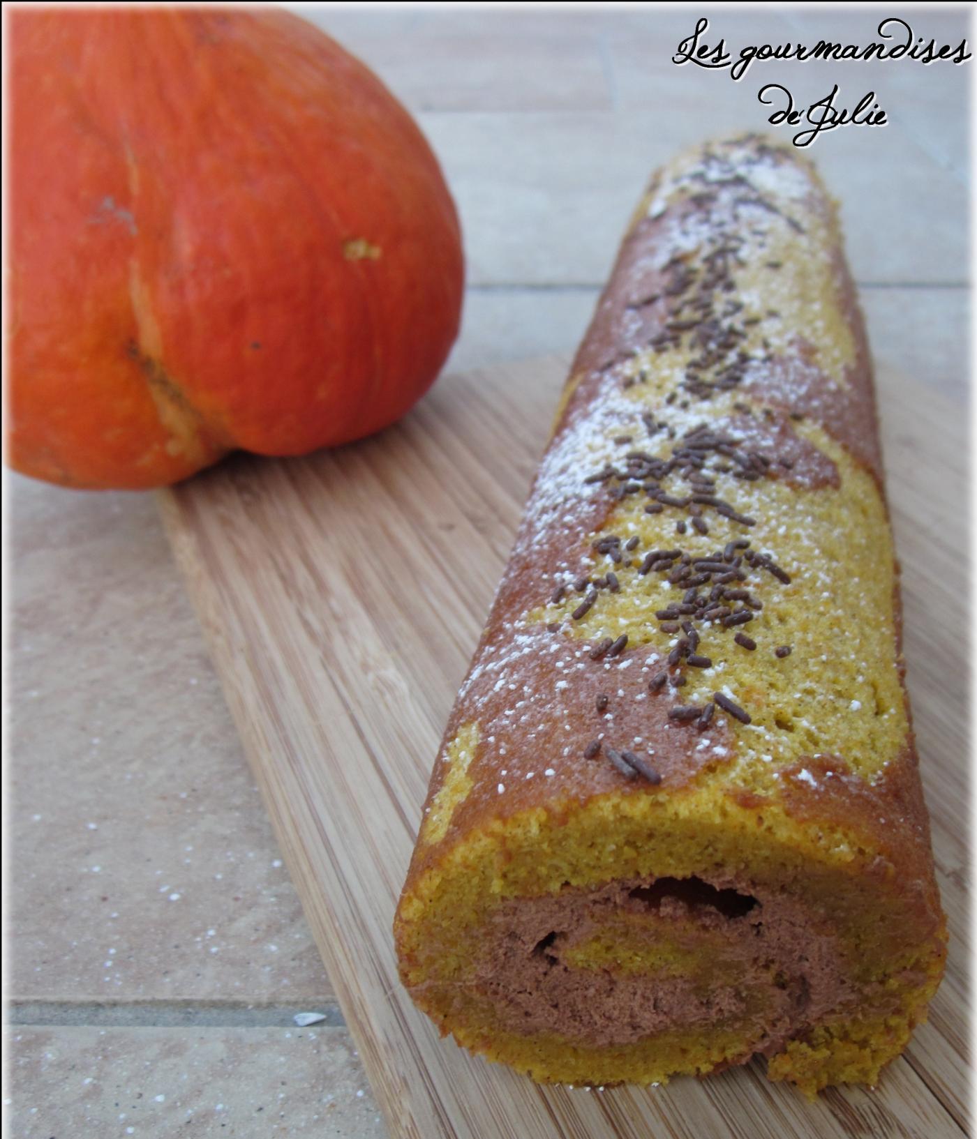 Gâteau roulé potimarron et chocolat