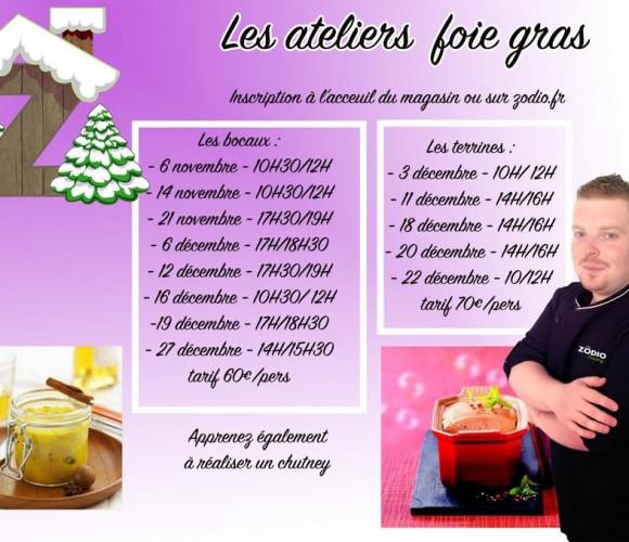 Atelier « Atelier Foie Gras: « Terrine de Foie Gras ou bocal, Chutney de pomme et échalote »
