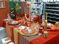 """TABLE DE NOËL """"BRITISH""""......ROUGE, OR & TRADITION....."""
