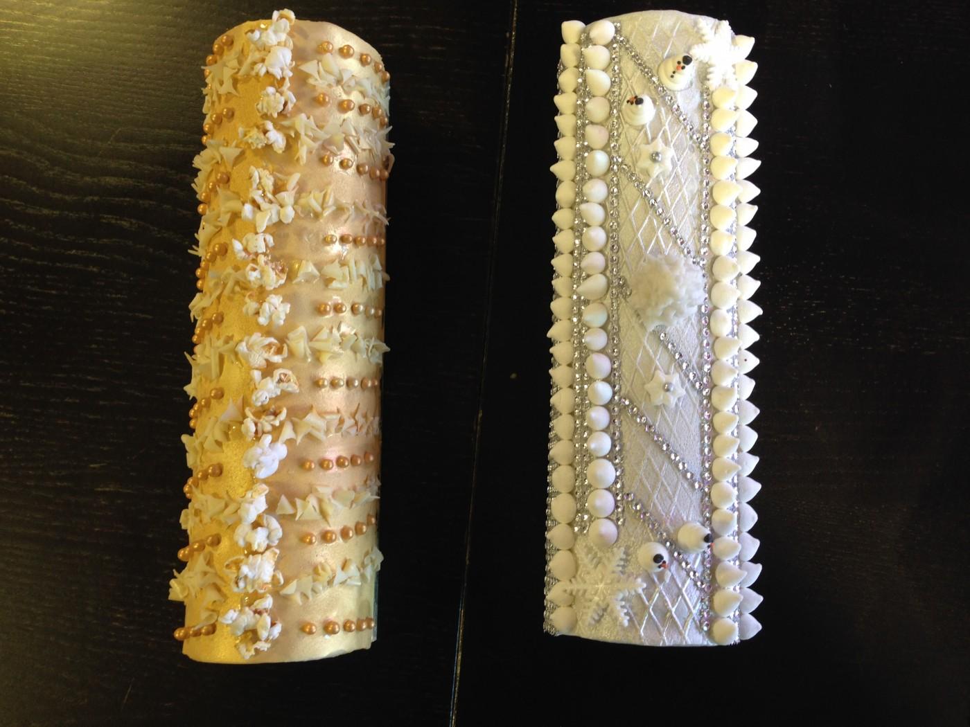 Jolie décoration buche de NOEL (Blog Zôdio)