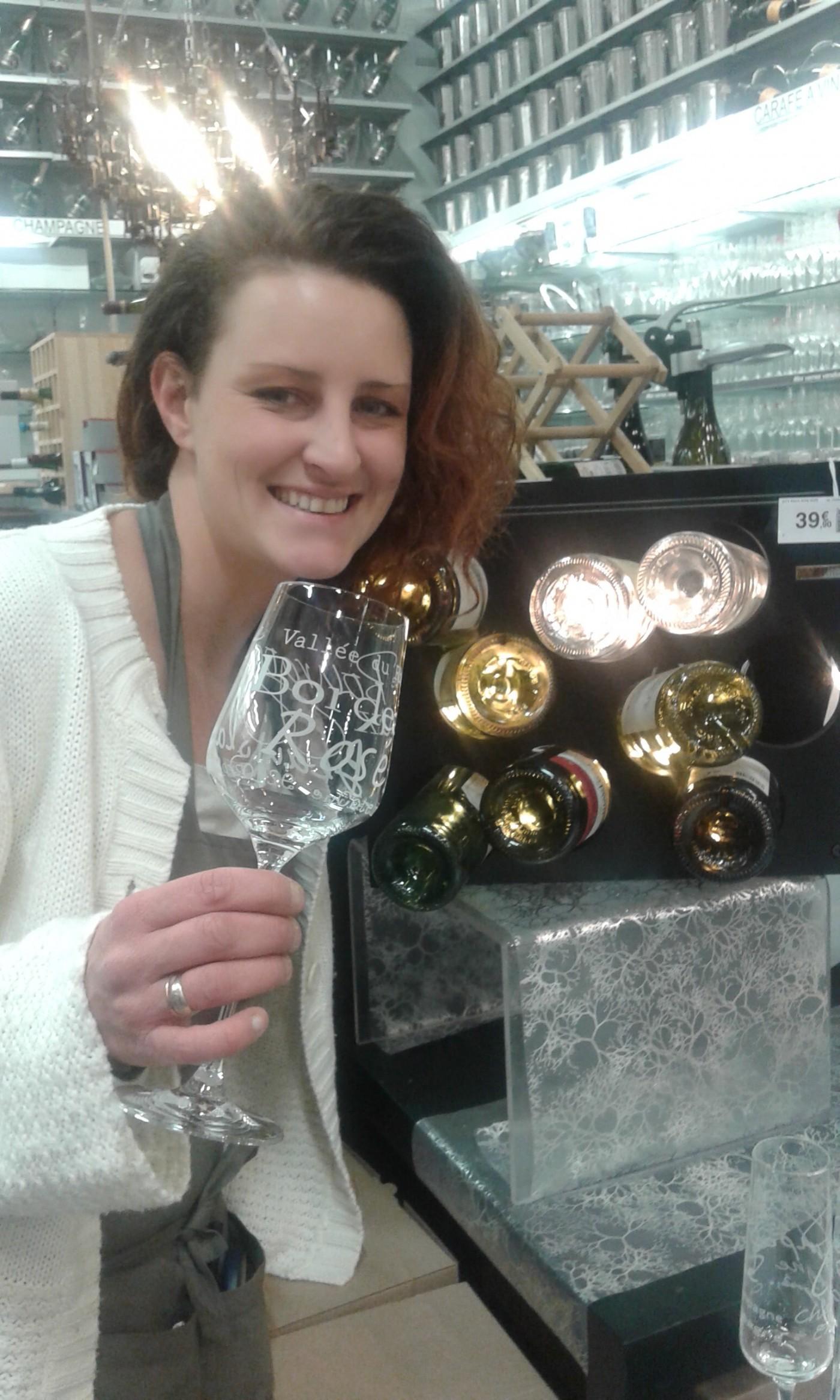 J'ai choisi pour ma soeur des verres à vin hyper classes !!!