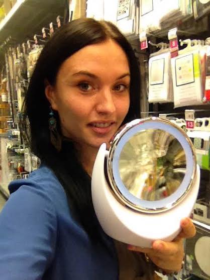 J 39 ai choisi pour ma maman le miroir lumineux led double for Miroir zodio