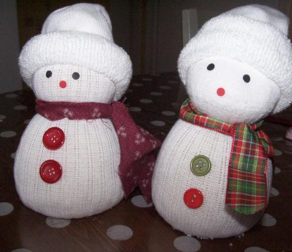 Idée minute : réaliser un bonhomme de neige avec une chaussette
