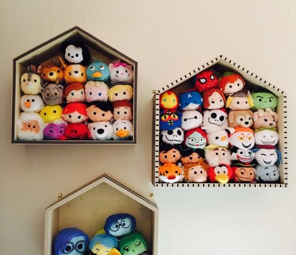 J'ai réalisé des étagères pour les Tsum Tsum