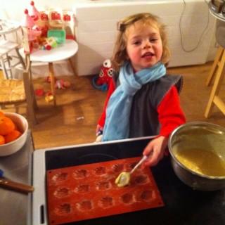 Les madeleines au miel de Lou.