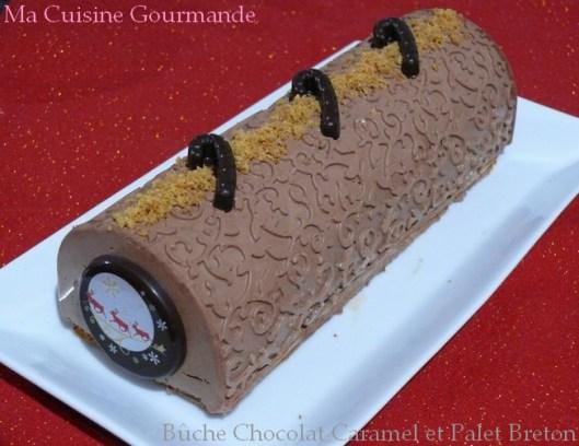 Bûche chocolat Caramel et Palet Breton