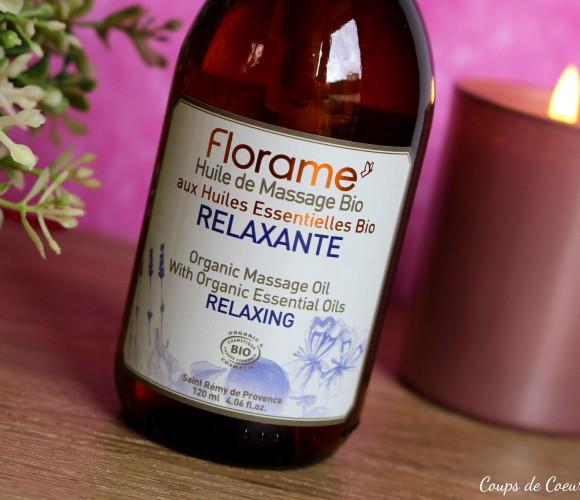 J'ai testé pour vous l'Huile de Massage Relaxante Bio FLORAME