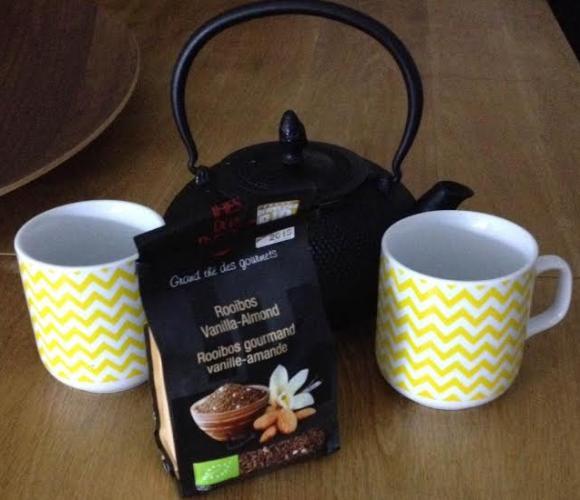 J'ai testé pour vous le thé Roobios, amande vanille de La Pagode des thé