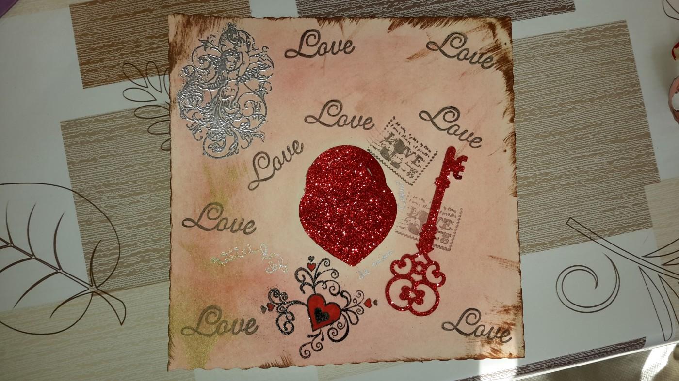 Ma carte pour la Saint Valentin!