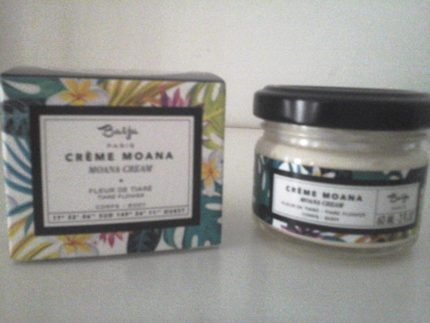 J'ai testé pour vous la crème Moana, Baïja