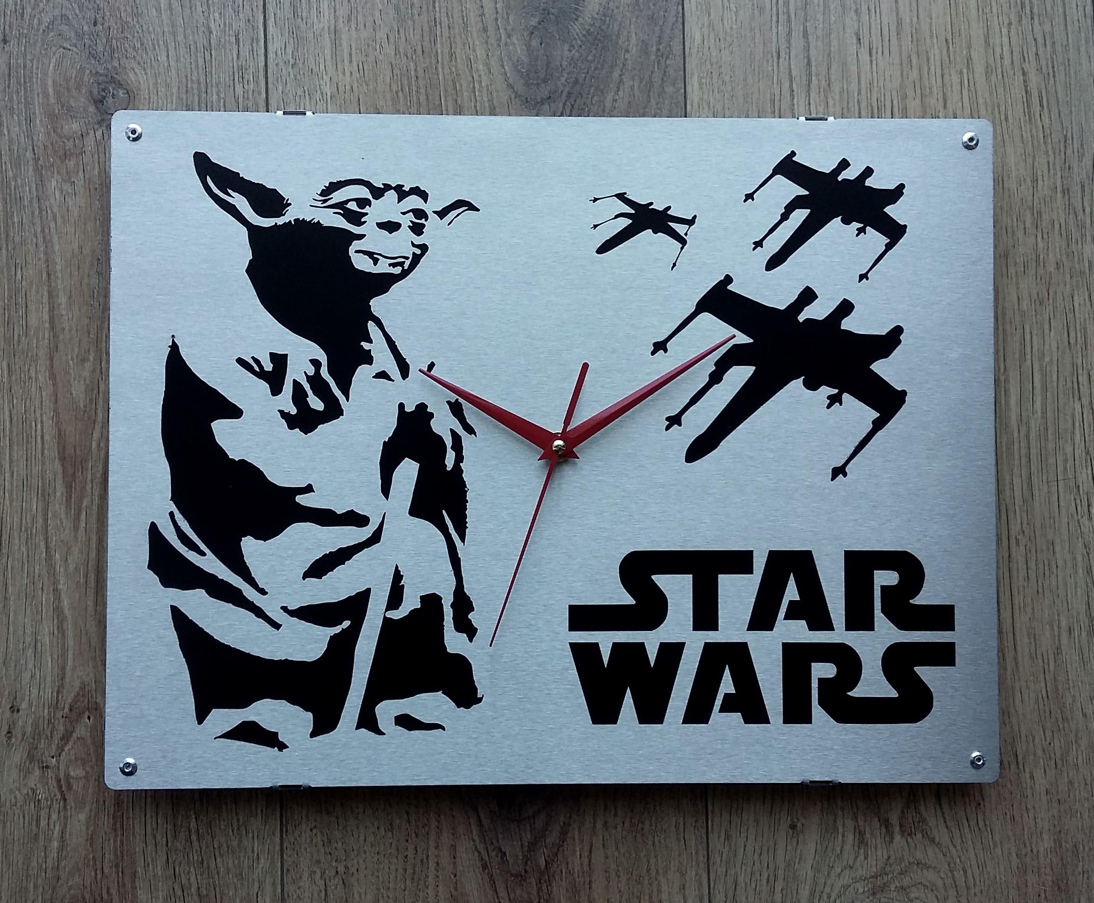 Horloge murale star wars inox blog z dio for Horloge zodio