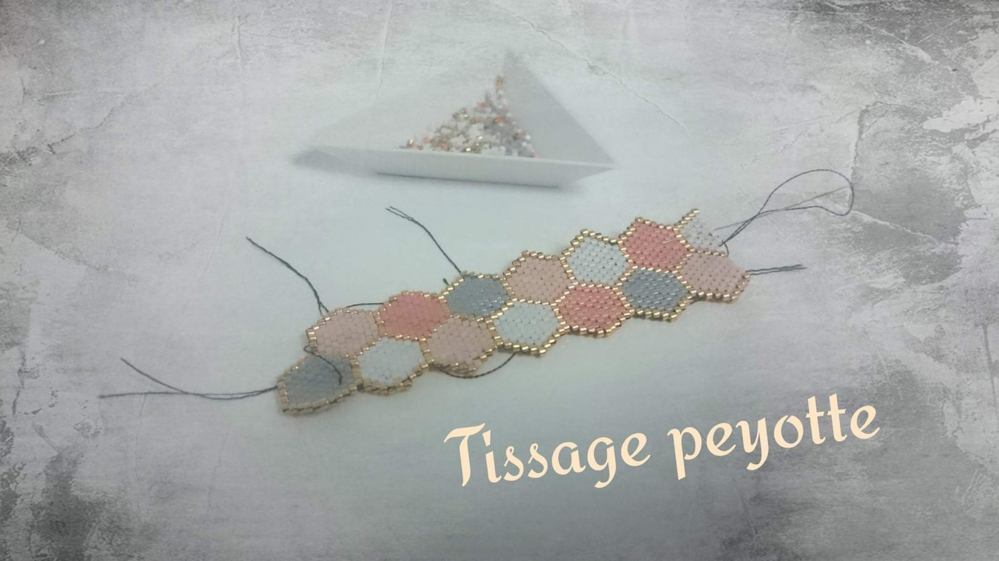 Bracelet tissage peyote du Japon