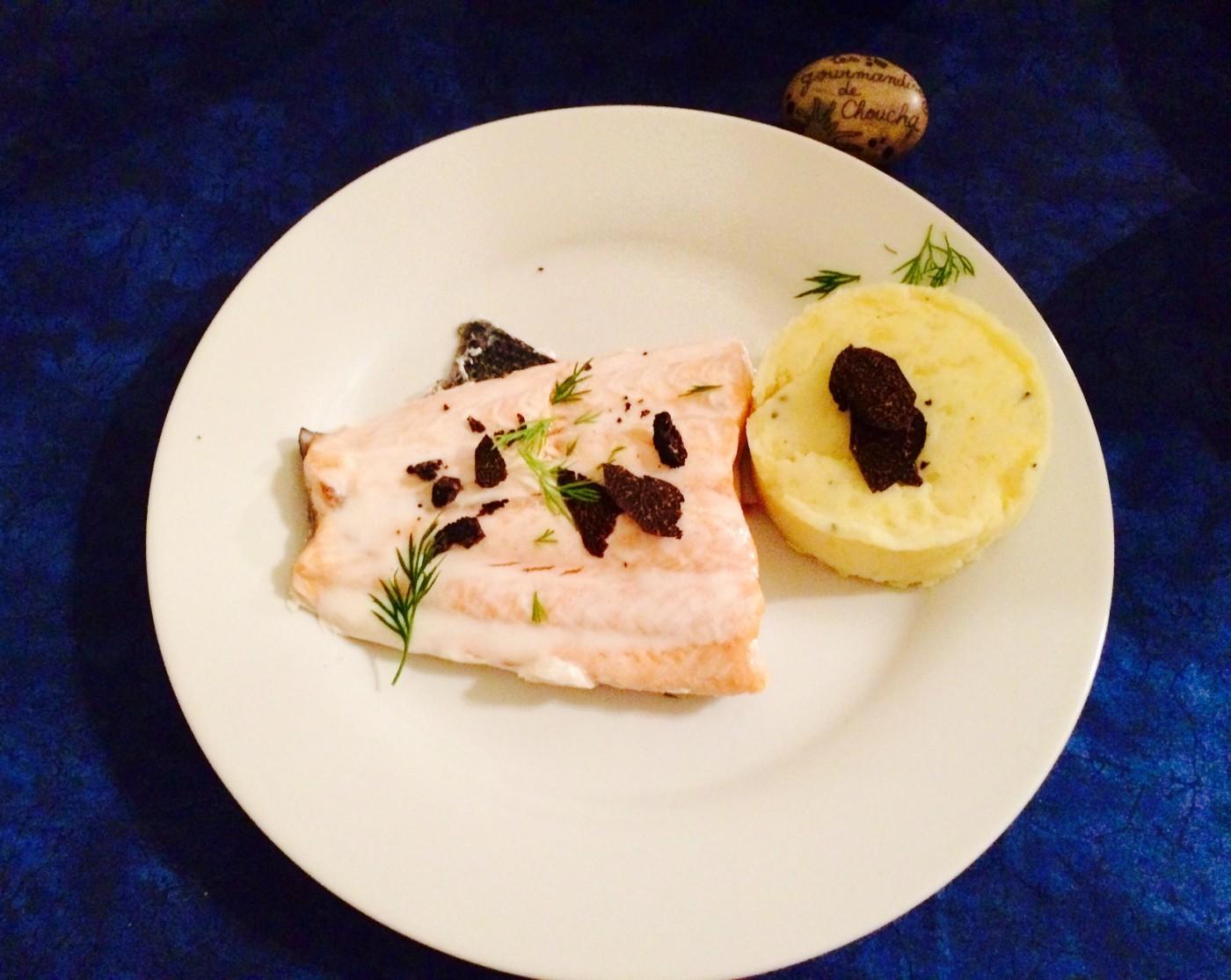 Saint Valentin : saumon à l'aneth et à la truffe et sa purée truffée