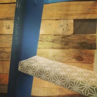 Le meuble du mois: patine à la bougie sur une échelle de peintre