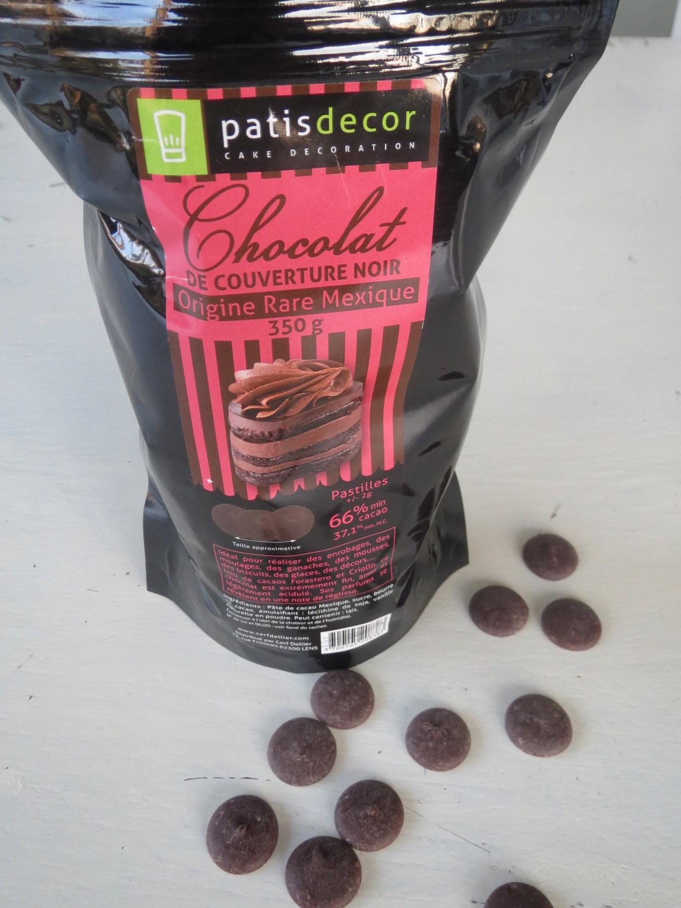 J'ai testé pour vous chocolat de couverture noir Origine rare Mexique - Patisdécor