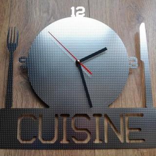 Horloge chat originale tout inox bross blog z dio for Horloge inox cuisine