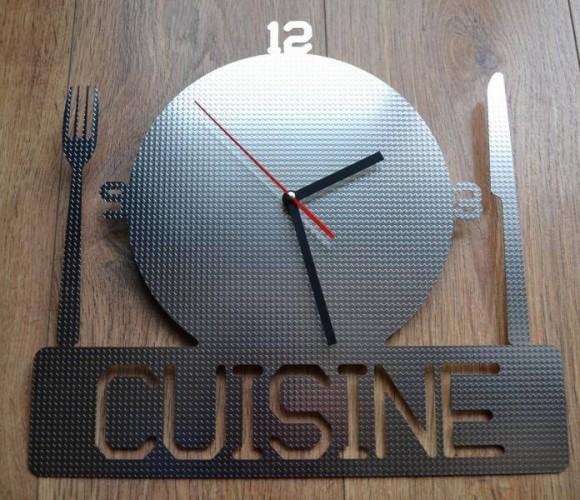 Horloge inox design Cuisine