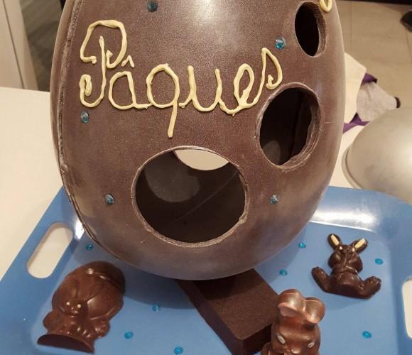 *Pâques* Sculpture chocolat 50 cm – 3kg de chocolat