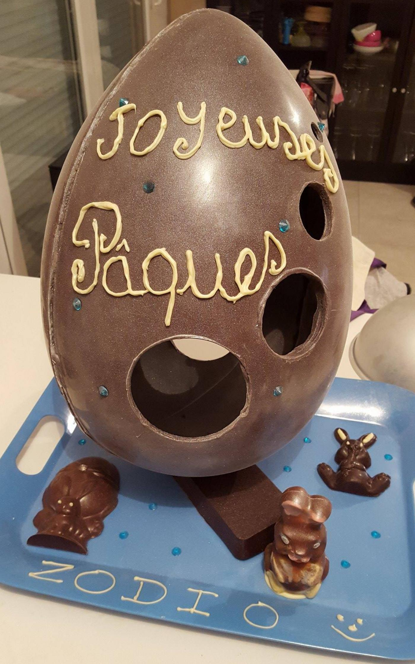 *Pâques* Sculpture chocolat 50 cm - 3kg de chocolat