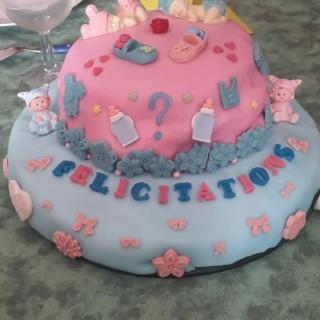 Gâteau de félicitations pour mon petit neveu ou petite nièce à venir